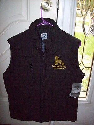 Women's Storm Creek Padded Vest With Woodstock Fair Horse Show Logo Large