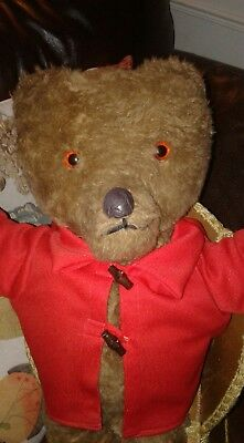 Old Antique Vintage Teddy Bear 19 inches Rare Unusual