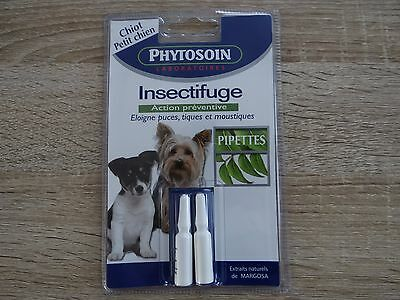 lot 2 pipettes anti parasitaires puces tiques PHYTOSOIN petits chiens chiots