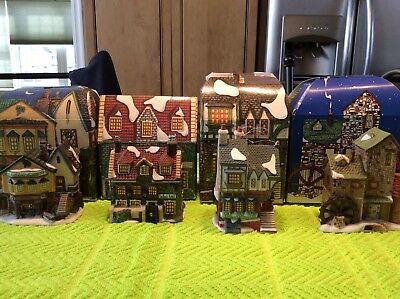 LOT of 4 DEPT 56 Christmas Ornaments CHARLES DICKENS HERITAGE VILLAGE In Boxes