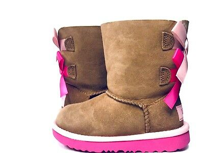 f35c781d091 NEW TODDLER BOOT Ugg Bailey Bow Ii Chestnut Pink Azalea Water Resistant I  7394