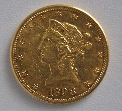 1898 S $10 Liberty Gold Eagle United States Coin 09904