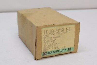 NEW White-Rodgers 1E30-910 Heating Thermostat Single Stage 24V