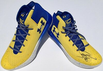 6ecd72f668083 STEPHEN CURRY #30 SIGNED UNDER ARMOUR 3ZER0 BASKETBALL SHOES w/JSA WARRIORS