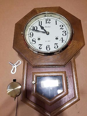 Linden 31 Day Wall Clock Baylor University Class Of 1979 ,With Key -Very Nice