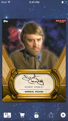 Topps Star Wars Digital Card Trader Gold Signature General Madine Insert
