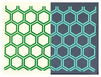 Safe-Tee HEXAGON OUTLINES A4 Sheet - Reflective Helmet Stickers - 7 Colours as