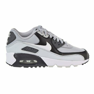 Nike Boy's Air Max 90 Leather (GS) Shoe, Wolf Grey/White-Pure Platinum-Black 4Y