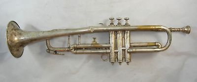 ANTIQUE ANTOINE COURTOIS Trumpet c 1900 with Mouthpiece AS IS 24-48