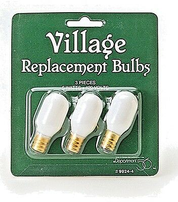 Dept 56 Village Replacement Bulbs (3 pieces) 99244 light Christmas Accessory