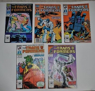 TRANSFORMERS Marvel Comics Lot 24 25 27 29 30 (FN/Fine condition average)