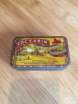 Log Cabin Tobacco Tin