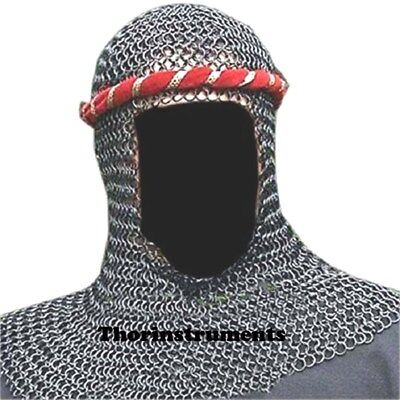 Chain Mail Coif Butte Chainmail Hood Knight Armour Hood