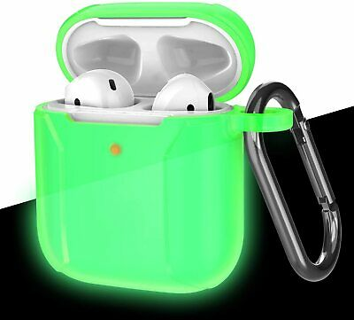 For Apple AirPods Charging Silicone Case Protect Carry Cover+Keychain Carabiner