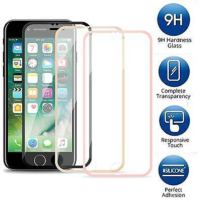 [2-PACK] iPhone 8 7 & Plus - Tempered Glass [FULL COVER] Screen Protector Guard