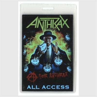 Anthrax authentic concert tour Laminated Backstage Pass