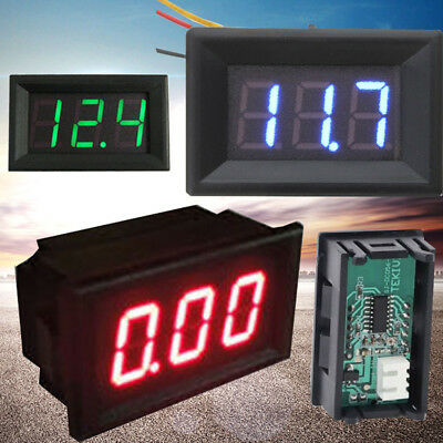 Small LED 3-Digital Display Volt Voltage Voltmeter Panel Accurate Meter 4.5-30V