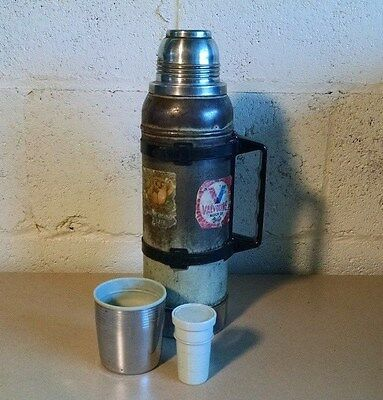 Vintage Aladdin Stanley Quart Thermos A-944B with Handle Distressed Steampunk