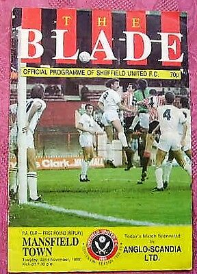 Sheffield United   V  Mansfield Town  1988-89 Fa Cup
