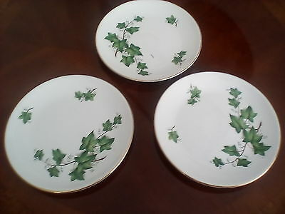 "Swinnertons nestor vellum ivy three 6.75"" side plates"