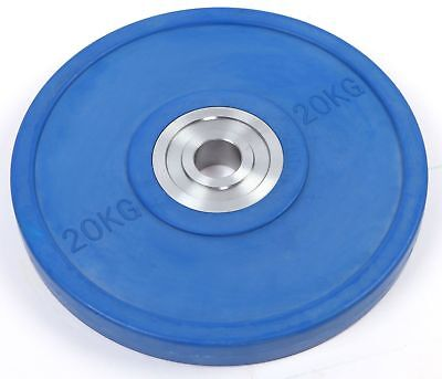 New 20KG PRO Olympic Rubber Bumper Weight Plate V63-783795