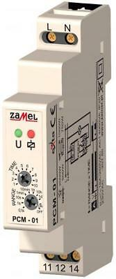 "TIME RELAY PCM-01, ""ON"" DELAY, 230V AC or 12 ÷ 240  V AC/DC"