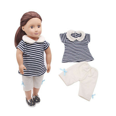 "For 18"" American Girl Our Generation My Life Doll Clothes Shirt Pants Outfit"
