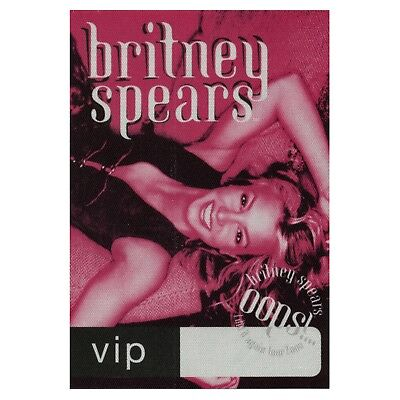 Britney Spears authentic VIP 2000 tour Backstage Pass