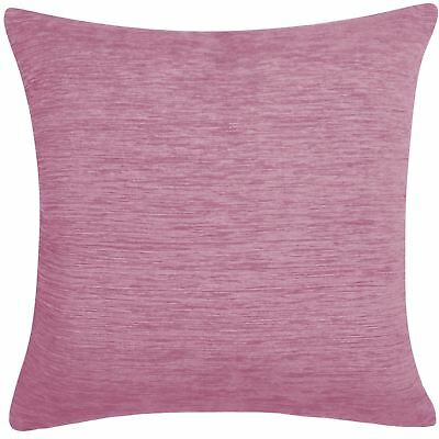 "Luxury Plain Chenille Cushion Cover Soft Covers 43 x43cm, 17x17"", Mauve"