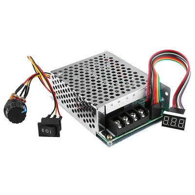 DC 10V-50V PWM Motor Speed Controller CW/CCW Reversible Switch 40A with LED D6B8