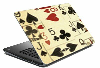 "Poker Laptop Skin Notebook Cover Protector Stickers Decal Fits 14.1"" To 15.6"""