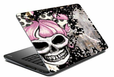 "Skull Laptop Skin Notebook Cover Protector Stickers Decal Fits 14.1"" To 15.6"""