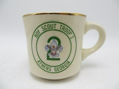 Vintage Boy Scouts of America Coffee Cup / Mug - Boy Scout Troop 2 Athens GA