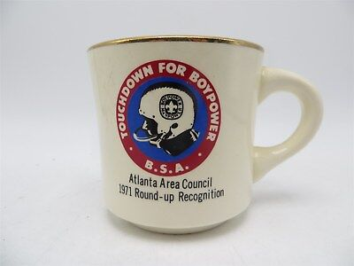 Vintage Boy Scouts of America Coffee Cup / Mug - Atlanta Area Council 1971