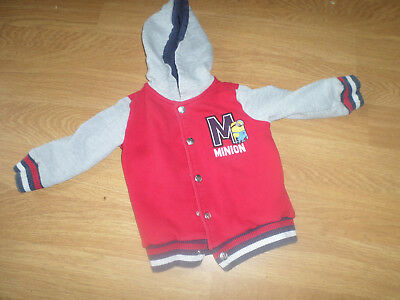Minions Boys Hooded Jacket Size 3-4yrs