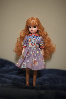 Licca chan 1st gen repro 20th anniversary Long curly redhead Doll