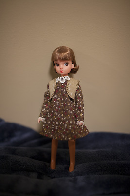 Licca chan 1st gen repro Club67 Brunette Vintage 70's style Doll