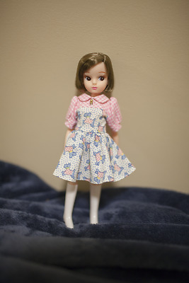 Licca chan 1st gen repro Club67 Olive brown hair bob Doll