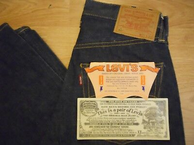 "Vtg. Original 60s LEVI's 501E S Type S/S  Big E Red Line W 27""x L 29"" Deadstock"