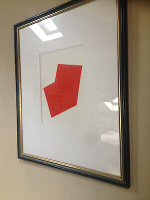 "Ellsworth Kelly "" Red Form "" Lithographie 2012 Lithografie"