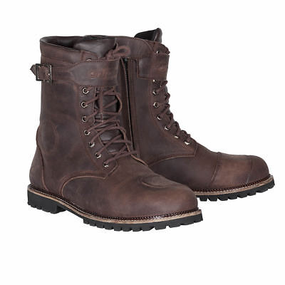 Spada Pilgrim Grande Waterproof Motorcycle Motorbike Boots - Brown