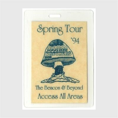 Allman Brothers authentic 1994 Laminate Backstage Pass Beacon and Beyond Tour