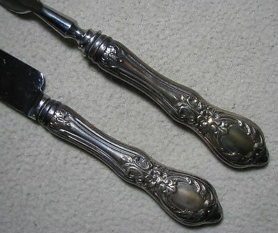 Vintage Sterling Silver Handle Carving Set Kent Silversmith Stainless Blade