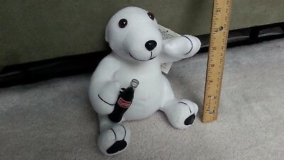1993 Coke Coca Cola Plush Polar Bear Bottle Stuffed Collection Gift Animal VTG