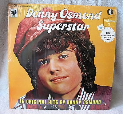 1973 - K-Tel Records - Donny Osmond Superstar - Original Poster Included - Mint!
