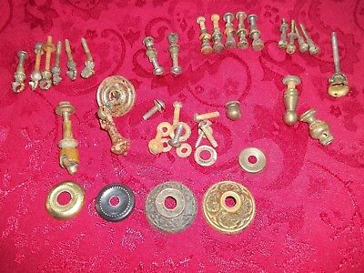 Vintage Lot Of Dresser Drawer Pull Parts Escushions Screws