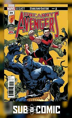 UNCANNY AVENGERS #28 LEGACY (MARVEL 2017 1st Print) with Marvel Stamp! COMIC