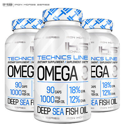 OMEGA 3 90/180 Caps. 1000 mg Deep Sea Fish Oil Concentrate EPA DHA Heart Health