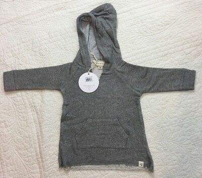 Burts Bees Organic Tunic Pullover Hoodie Sweater Size 24 Months NWT Retails $22