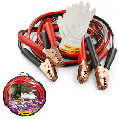 Heavy Duty Booster Cables Jumping Emergency Car Bike Power Jumper 16 FT 4 Gauge